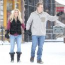 Heidi Montag and Spencer Pratt spotted out for a stroll on a snowy day in Aspen, Colorado on December 28, 2014 - 454 x 446
