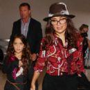 Salma Hayek and Paloma Pinault At Lax Airport In La