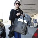 Nikki Reed: arrived at LAX Airport in Los Angeles