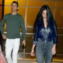 Cristiano Ronaldo's stunning girlfriend Georgina Rodriguez dazzles in a navy leather jacket and skinny jeans on romantic dinner date