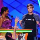 Zac Efron Nickelodeon's 25th Annual Kids' Choice Awards in Los Angeles, California on Saturday night (March 31)