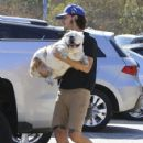 Shia LaBeouf and his new wife, Mia Goth, spend the day at the dog park in Studio City, California on October 15, 2016 - 424 x 600