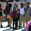 Amber Rose on the Set of 'School Dance' in Norwalk, California -  June 18, 2012 - 454 x 316