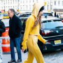 Gigi Hadid in Yellow Tracksuit – Out in NYC