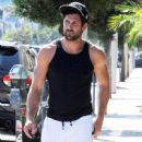Maksim Chmerkovskiy stops by Hammer & Nails, a nail salon for men, in West Hollywood, California on August 7, 2014 - 449 x 594