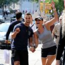Miranda Lambert in Shorts – Out for a stroll in NYC - 454 x 701