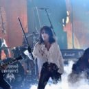 Actor/musician Johnny Depp, singer Alice Cooper, musician Joe Perry and musician Duff McKagan of Hollywood Vampires perform onstage during The 58th GRAMMY Awards at Staples Center on February 15, 2016 in Los Angeles, California.
