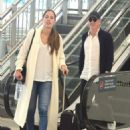 Ana Ivanovic and Bastian Schweinsteiger – Arrives at airport in Sydney - 454 x 582
