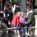 Rebecca Gayheart and her daughter Billie and Georgia are spotted out shopping at The Grove in Los Angeles, California on March 31, 2016 - 454 x 532