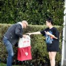 Ariel Winter – Gets a Doordash delivery to her front steps in Studio City