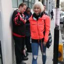 Kimberly Wyatt in Red Jacket – Out in London - 454 x 651