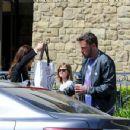 Ben Affleck and Jennifer Garner after church Sunday, March 26th, 2017 - 454 x 349