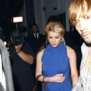 Jessica Simpson - Blue Dress Candids In West Hollywood