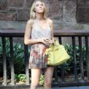 "Blake Lively: on the New York City set of ""Gossip Girl"""
