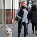 Nicollette Sheridan spotted out with her dog in Beverly Hills, California on January 7, 2016 - 454 x 591
