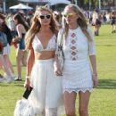Paris Hilton attend day 1 of the first weekend of the Coachella Valley Music and Arts Festival in Indio, California on April 10, 2015