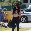 Adriana Lima in Tights – Leaving a gym in Miami