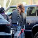 Lena Headey – Filming 'Gypsy Moon' in Los Angeles