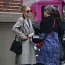 Dianna Agron in Long Coat – Out in New York - 454 x 717