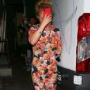 Hayden Panettiere in Floral Dress – Leaves restaurant in Hollywood