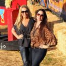 "Kyle Richards and Adrienne Maloof from ""The Real Housewives of Beverly Hills"" at Mr. Bones Pumpkin Patchof """