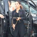 Salma Hayek Arriving At The Taylor Swift Concert In La