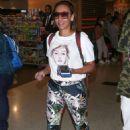 Melanie Brown at LAX International Airport in LA