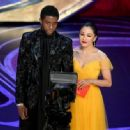 Chadwick Boseman and Constance Wu At the 91st Annual Academy Awards - Show - 454 x 334