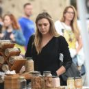 Elizabeth Olsen at a Farmer's Market in Los Angeles 10/16/ 2016
