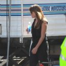 Lea Michele On The Set Of Glee In La