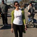Daniela Ruah on the set of  NCIS LA