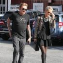 Johnny Hallyday is seen visiting the Brentwood Country Mart with his wife Laeticia on February 2, 2015 in Brentwood, California - 454 x 569