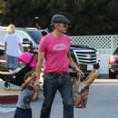Olivier Martinez and his son Maceo Martinez are seen out and about in Beverly Hills Ca - 450 x 600