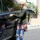 Actress Emma Roberts is seen house hunting in Beverly Hills, California on July 5, 2016