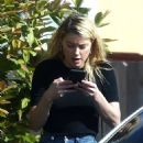 Amber Heard – Outside a home in Encinitas - 454 x 681