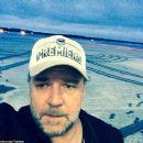 Selfie spree! Russell Crowe turns the camera on himself promoting directorial debut The Water Diviner overseas - 454 x 386