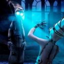 #1 ( at right, voiced by Christopher Plummer) is confronted by a mysterious visitor in 9.