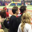 Joe King and Candice Accola at the Super Bowl 2013 - 399 x 400