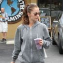 Minka Kelly: at Great Earth Vitamins in West Hollywood