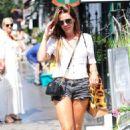 Danielle Lloyd in Denim Shorts – Out in London - 454 x 721