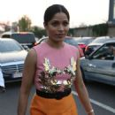 Freida Pinto – Arrives at Moschino Fashion Show in Milan - 454 x 680