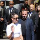 Bella Hadid Leaving her hotel in Paris