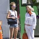 Gigi Hadid in Denim Shorts – Out in NYC