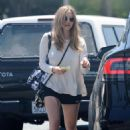 Amanda Seyfried in Black Shorts out for an iced coffee in West Hollywood - 454 x 681