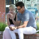 Emma Roberts and John Stamos – On the Set of 'Scream Queens' in LA 7/27/2016 - 454 x 509