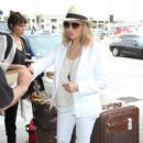 Raquel Welch is seen at LAX