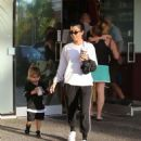 Kourtney Kardashian – Goes for painting pottery at Color Me Mine in LA