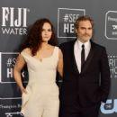 Joaquin Phoenix and his sister Rain Phoenix At The 25th Annual Critics' Choice Awards (2020)