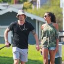 3500x2333 · Joel Kinnaman and Kelly Gale take their dogs to the dog park in Venice Beach - 454 x 680