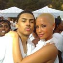"Amber Rose Attends the White Party hosted by Sean ""Diddy"" Combs and Ashton Kutcher to Help Raise Awareness for Malaria No More held at a Private Residence in Beverly Hills, California - July 4, 2009"